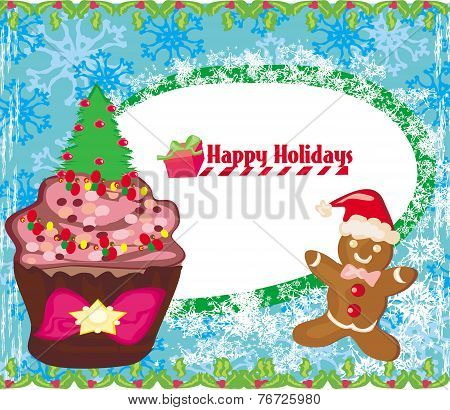 Christmas Muffin Card