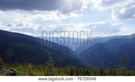 Beautiful Carpathian Mountains Panoramas, Est Europe, Romania.