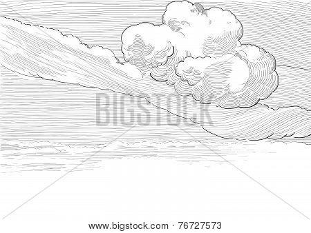 Retro cloudscape