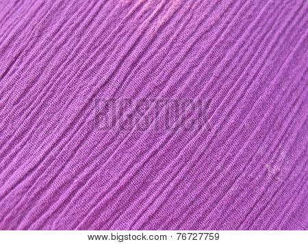 Texture Of Pressed Fabric In Lilac Color