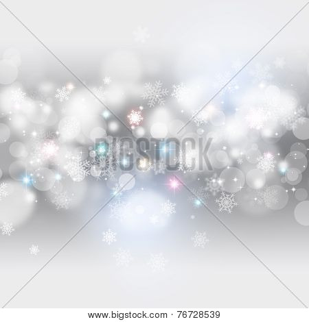 White Abstract Bright Christmas Background