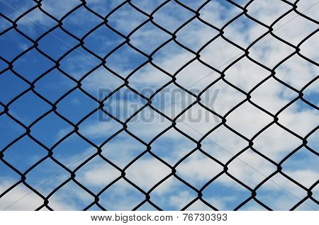 Jail And Bluesky Background