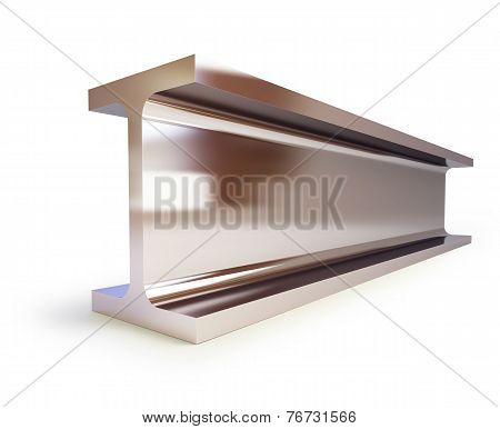 Metallic Joists On A White Background