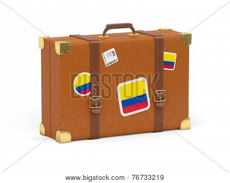 Suitcase With Flag Of Colombia