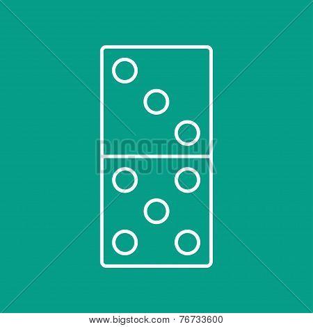 Vector Domino Icon. Eps10