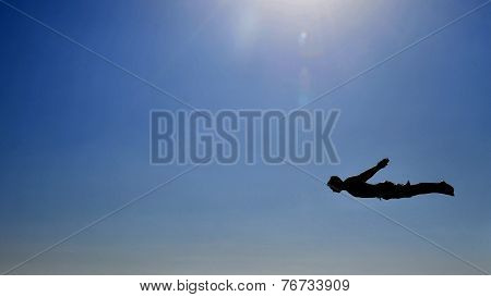 Man Flying In The Sky