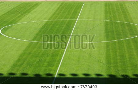 Empty Football Soccer Field