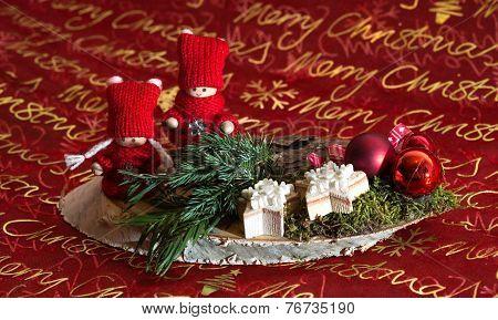 christmas decoration Weihnachtsgesteck