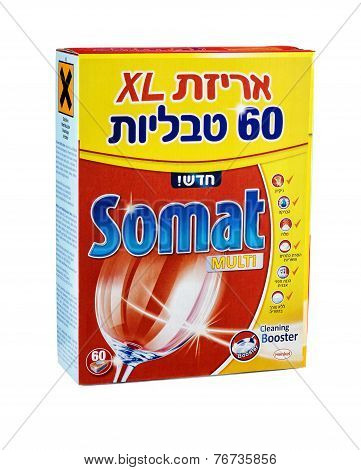 Carton Box Of Somat Multi Dishwasher Tablets 60Psc