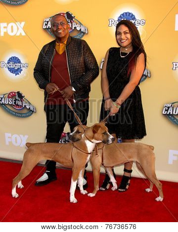 LOS ANGELES - NOV 22:  Randy Jackson, Zoe Jackson at the FOX's