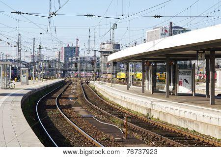 Platform At Munich, Germany  Main Station