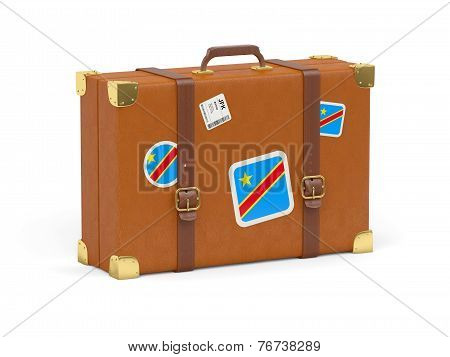 Suitcase With Flag Of Democratic Republic Of The Congo