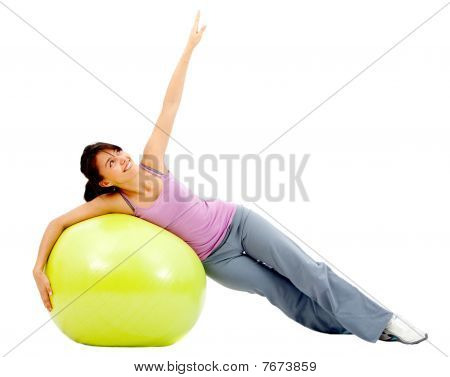 Fit Woman Exercising