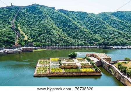 Garden on Maota Lake,  Amber Fort, Jaipur, India