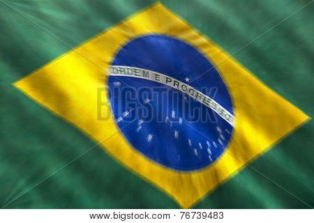 Brazilian flag blurred zoom movement