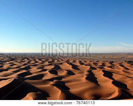 View Over Sahara Sand Dunes