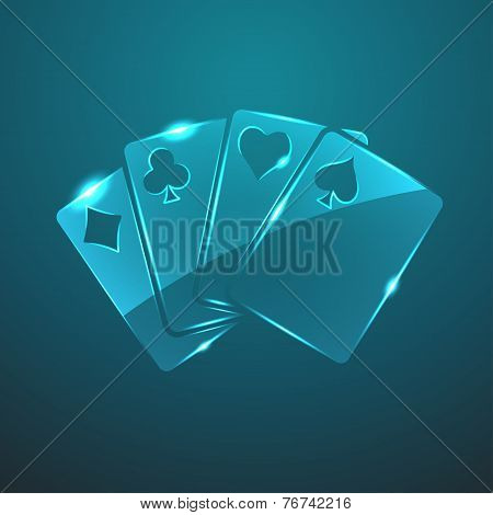Vector Glass Game Cards Icon