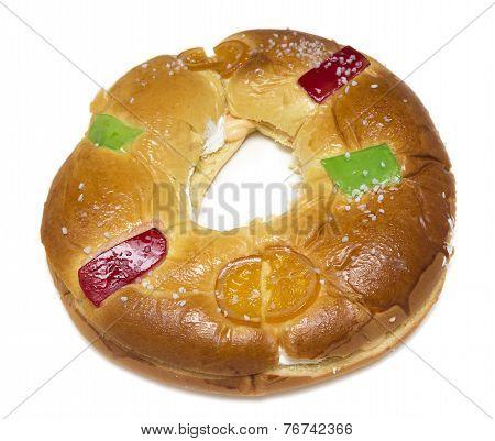 Epiphany Cake. Typical spanish seasonal pastry