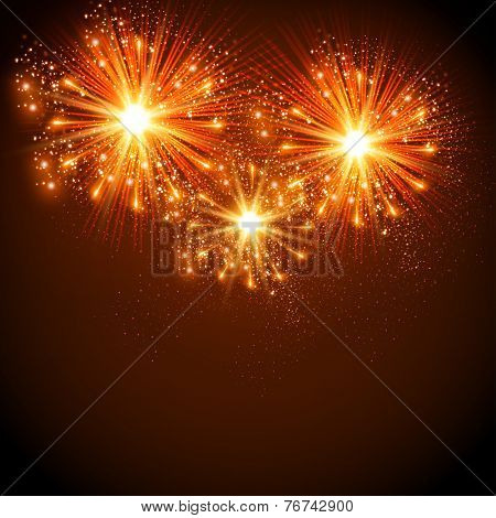 New Year 2015 celebration background, easy all editable
