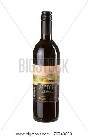 Hayward, CA - November 23, 2014: 750mL bottle of  Drytown Cellars Estate Malbec