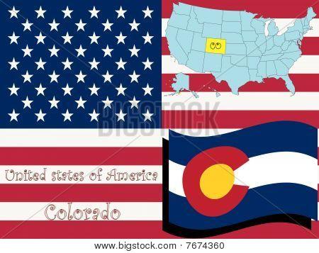 Ilustración del estado de Colorado