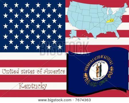 Ilustración del estado de Kentucky