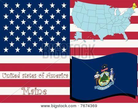 Ilustración del estado de Maine