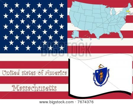 Ilustración del estado de Massachusetts