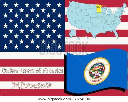 Ilustración del estado de Minnesota