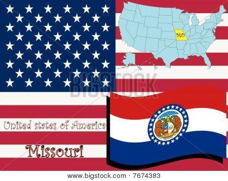 Ilustración del estado de Missouri