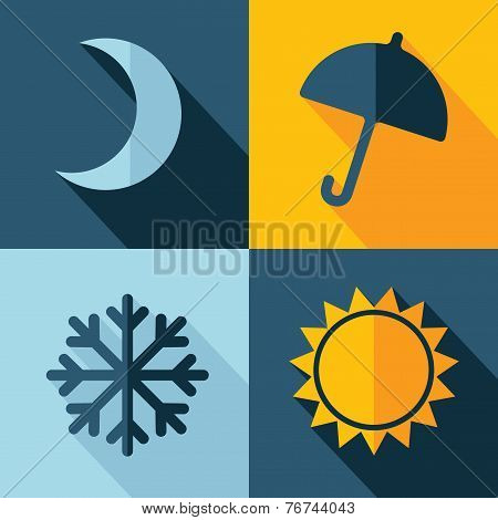 Vector Weather Set Icon. Eps10