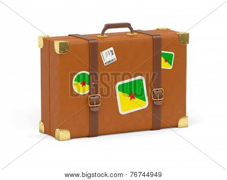 Suitcase With Flag Of French Guiana