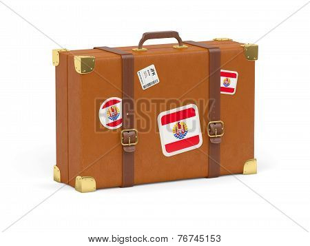 Suitcase With Flag Of French Polynesia