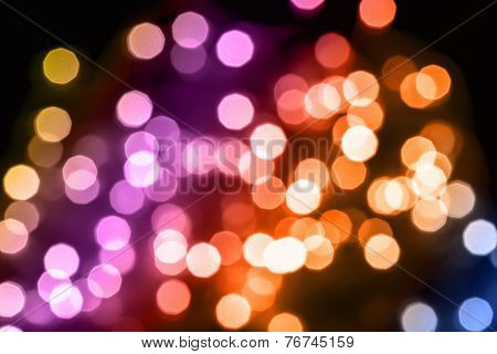 Multi Coloured Defocused Christmas Lights