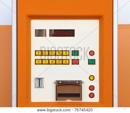 Close - up Electronic parking ticket machine