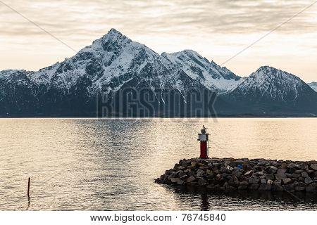 Dock near ocean in Norway bay