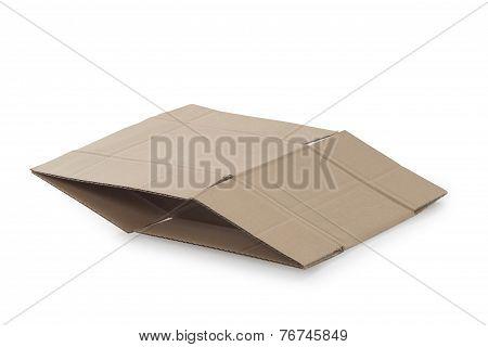 Folded Parcel On White