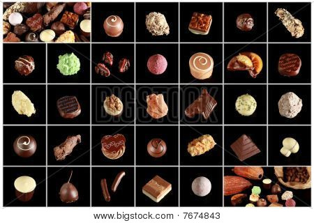 Variety of special chocolates