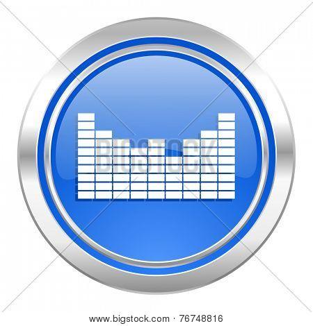 sound icon, blue button