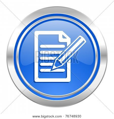 subscribe icon, blue button, write sign