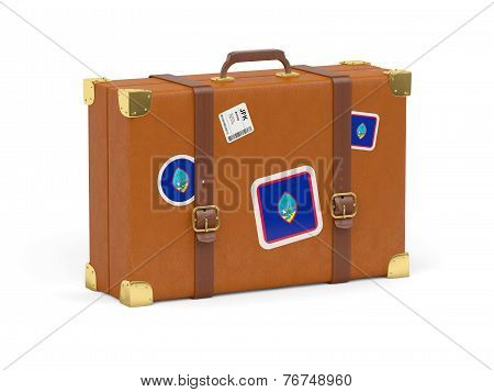 Suitcase With Flag Of Guam