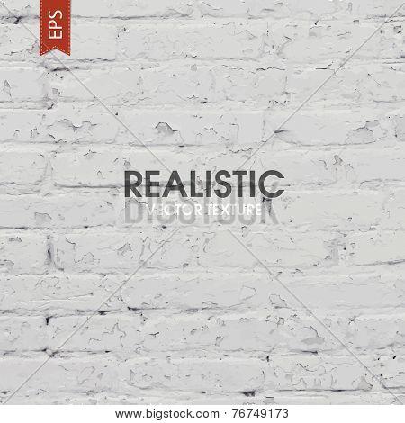 White brick traced texture