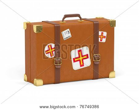 Suitcase With Flag Of Guernsey
