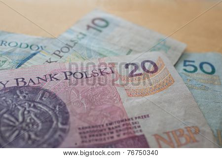 Zloty - polish banknotes