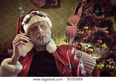 Bad Santa Smoking After Party