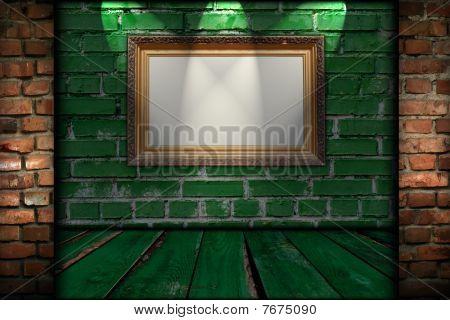 Vintage Frame in Creative Room