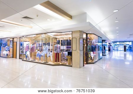 Shanghai,china-September 5, 2014:modern clothes retail shop in shopping mall