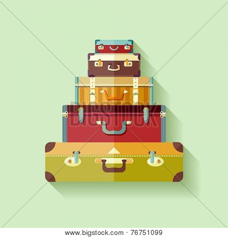 Mountain vintage suitcases.