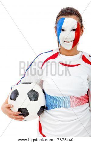 Retrato de bandeira francesa