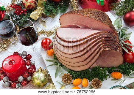 Christmas Glazed Ham